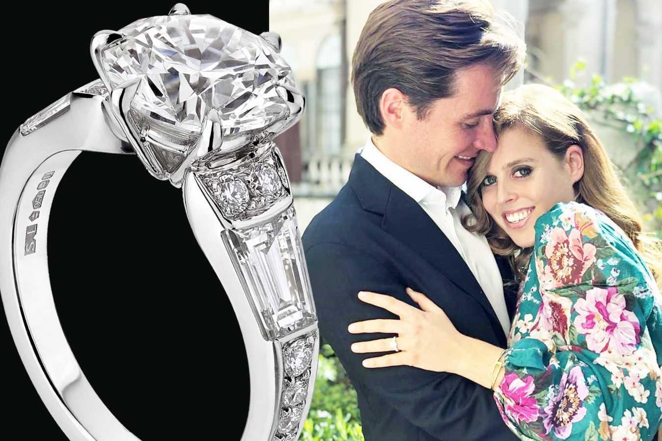 Обручальное кольцо принцессы Беатрис, где-то мы его уже видели