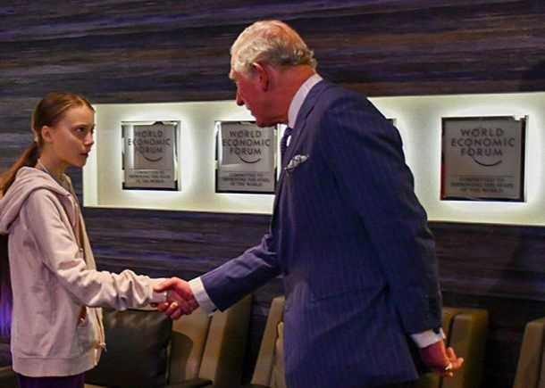 Принц Чарльз встретился с Гретой Тунберг