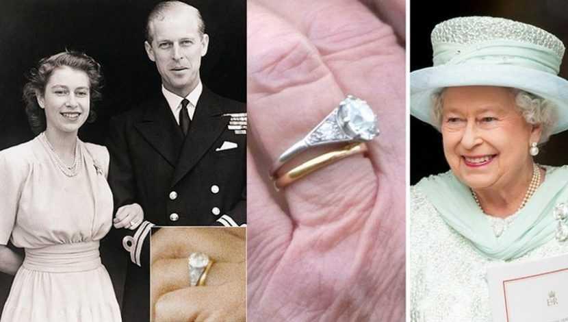 Где принц Филипп взял обручальное кольцо, которое подарил Елизавете?