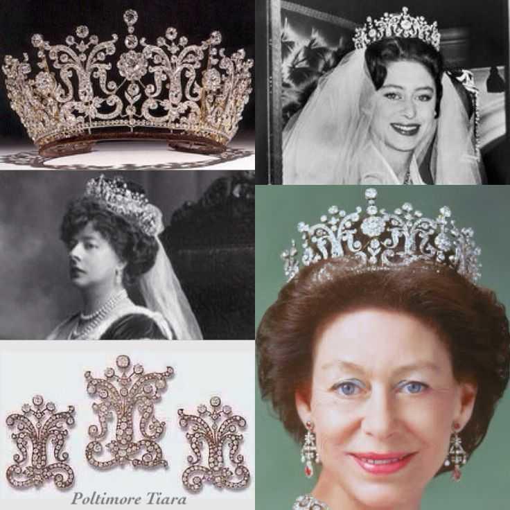 Свадебная бриллиантовая тиара принцессы Маргарет, в которой она пошла против всех