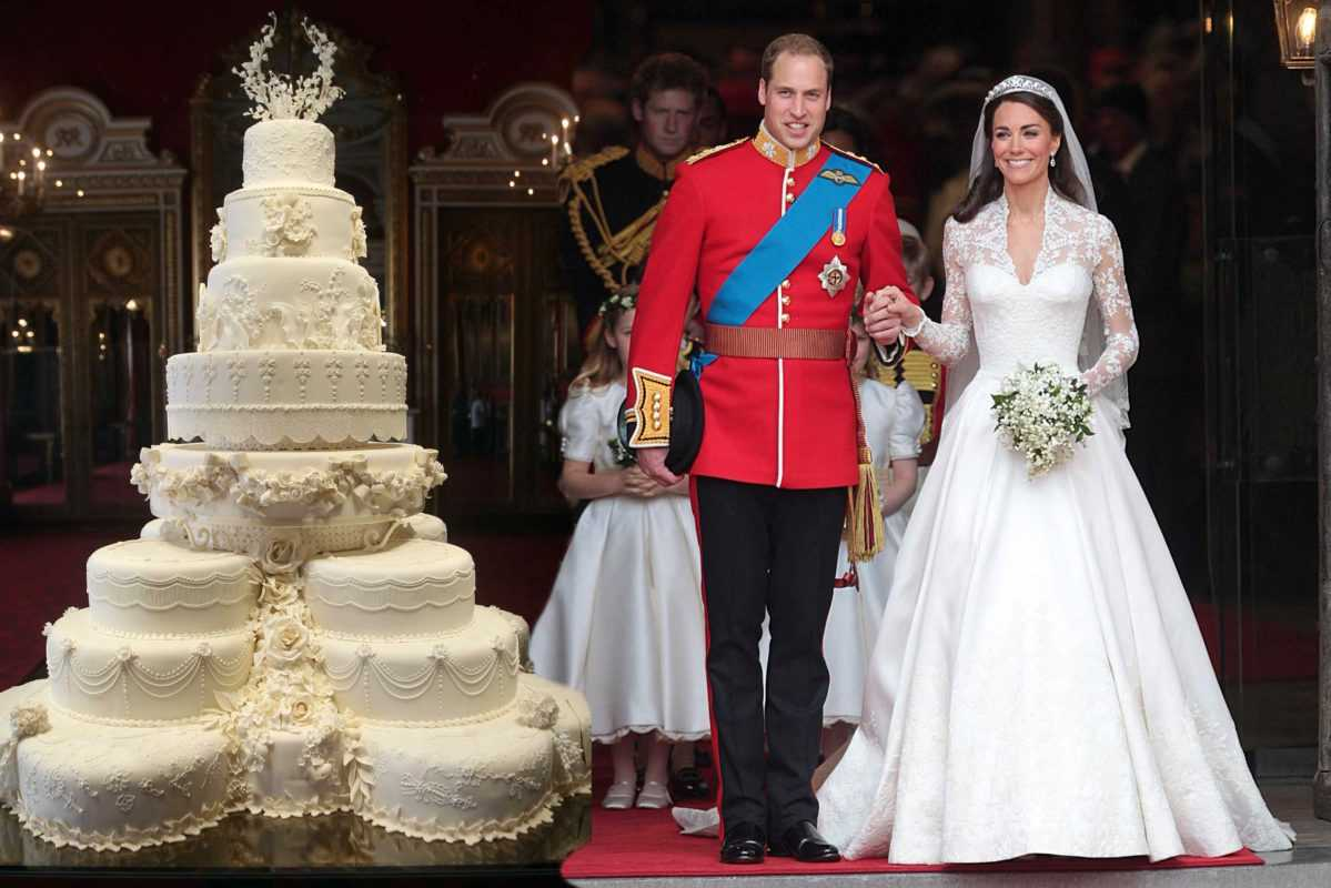 Свадебный торт принца Уильяма и Кейт Миддлтон доели через 7 лет