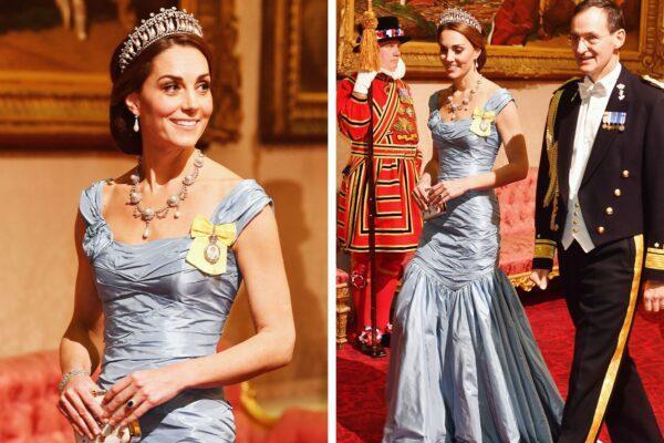 Каким не должно быть платье Кейт, герцогини Кембриджской, когда она идет на вечернее мероприятие с тиарами